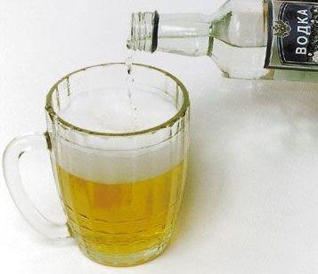 коктейль водка и пиво