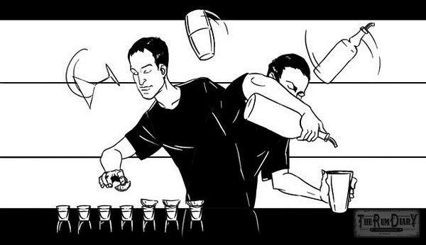 Тяжелый труд бармена