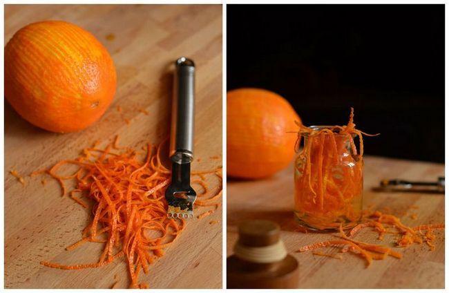 Добываем цедру для апельсиновой водки