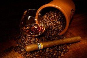 дижестив с кофе и сигарой