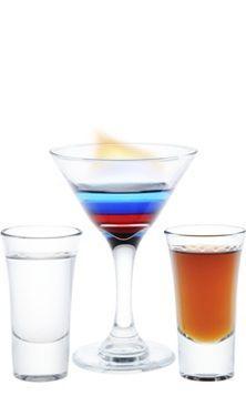 коктейль горящий Феррари с Бакарди