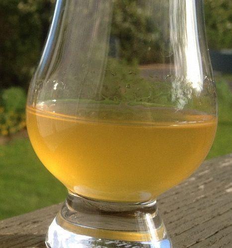 фото готового вина из персиков