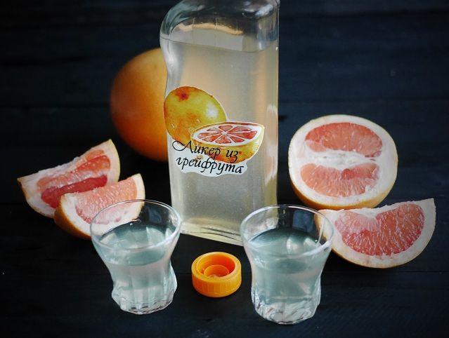 фото домашнего грейпфрутового ликера