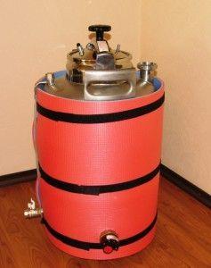 Емкость для брожения с терморегулятором