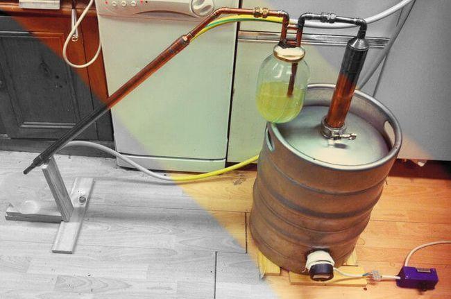 Кукурузный виски можно перегонять через барботер, предварительно наполненный небольшим количеством нашей осветленной браги.