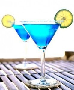 голубой коктейль