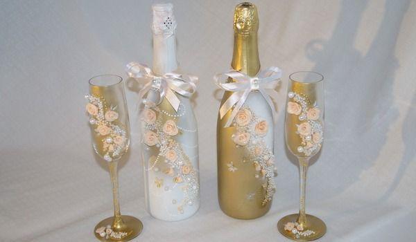 Как украсить шампанское