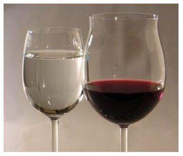 Как вино разбавить водой