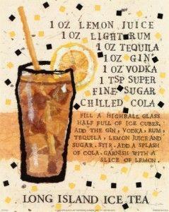 Cocktail Long Island Ice Tea (Long Island Iced Tea)