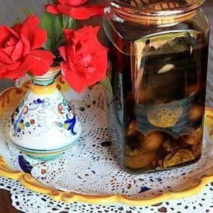 самогон на грецких орехах и их перегородках