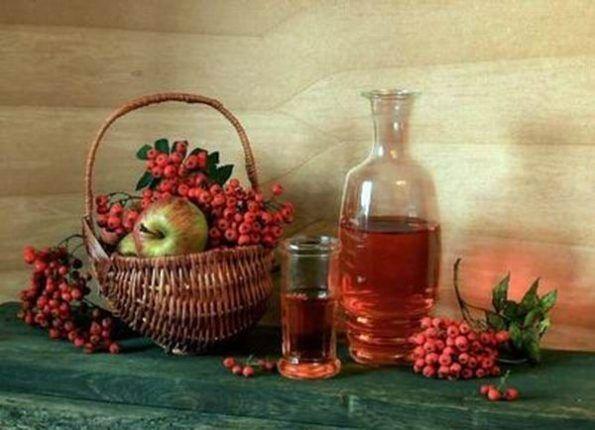 Осенняя настойка из рябины в домашних условиях