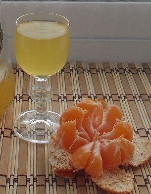 фото готовой мандариновой настойки