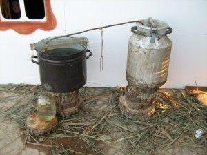 Процесс изготовления самогонного аппарата из подручных средств