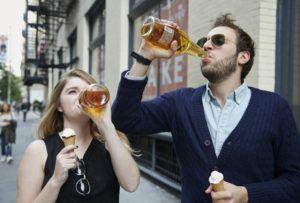 Распитие спиртных напитков в общественных местах