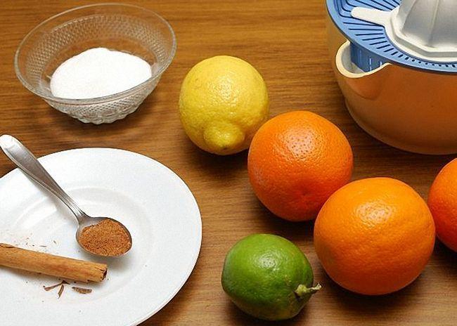 Лимон мандарин апельсин и лайм для Сангрии