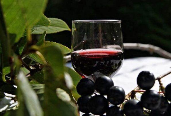 Русская настойка из черноплодной рябины на водке