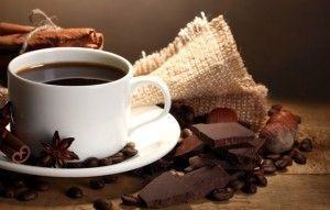 кофе, шоколад, орехи, корица