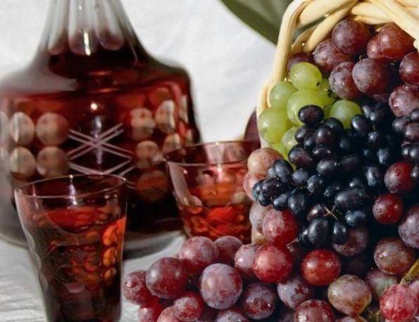 Старинная виноградная настойка на водке