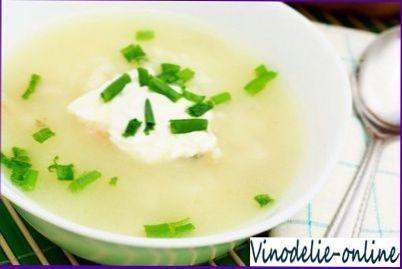 Суп из белого вина