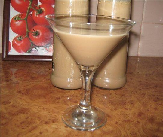 Fotografie čokoládový likér s kondenzovaným mlékem