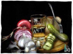 Учимся правильно пить и закусывать водку
