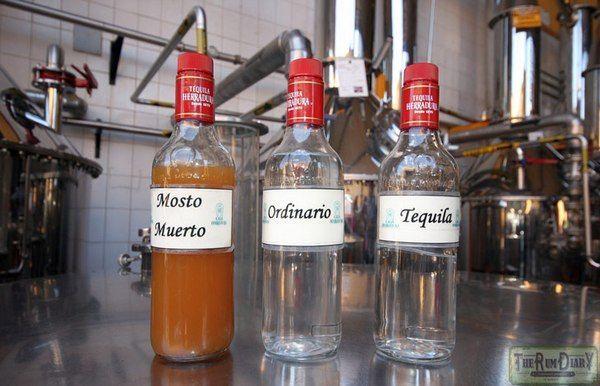 Različni deli tekila destilacija