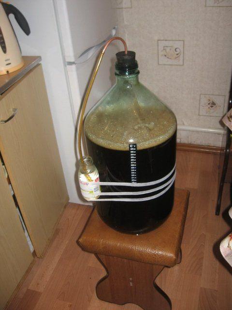 gidrozatvo vina fermentacije