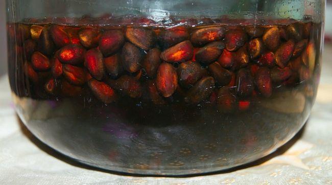 Водка, настоянная на кедровых орехах