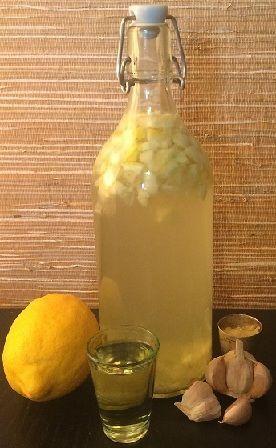 фото настойки из меда, чеснока и лимона