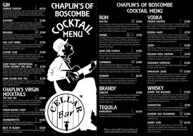 Wybierz format swoich barów, restauracji koktajl