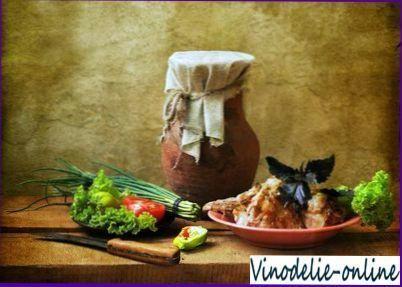 Жаркое из кролика с белым вином